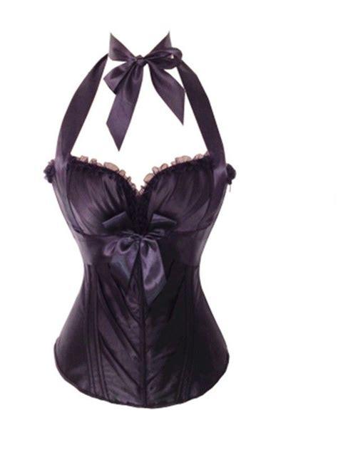 Corset Shapewear Black black halterneck corset top bustier womens shapewear