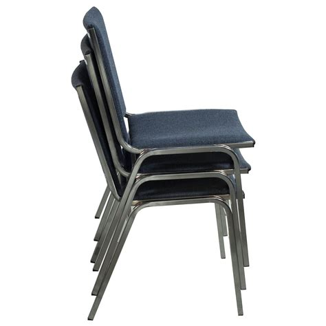 Stack Chair by Global Used Armless Stack Chair Blue Gray Tweed National Office Interiors And Liquidators