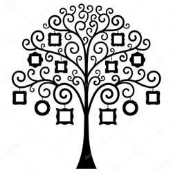 familt tree template vector 225 rbol de familia plantilla vector de stock
