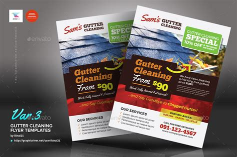 Gutter Cleaning Flyers Entown Posters Gutter Template