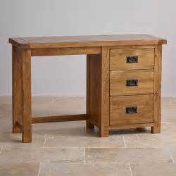Oak Vanity Table With Drawers Original Rustic Dressing Table In Solid Oak Oak Furniture Land