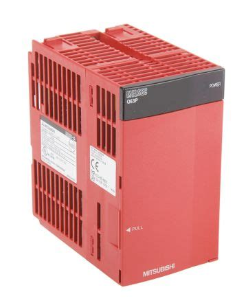 Power Supplay Mitsubishi Es200 q63p mitsubishi plc power supply q63 series melsec q series 24 v dc 5v dc 6 a 55 2 x 98 x
