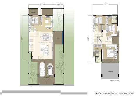 zero lot line floor plans house plans 59736