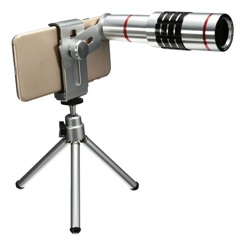 Mobile Handphone Telescope With Universal Holder 18x univesal mobile phone telephoto lens telescope mount tripod for cellphone ebay