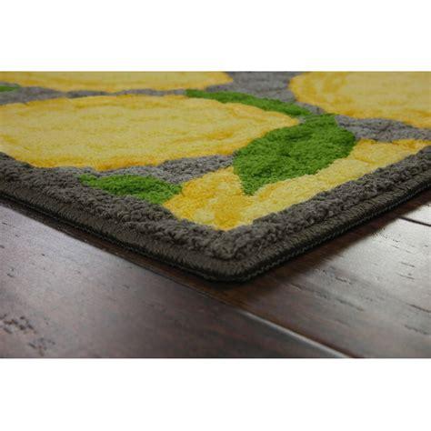 lemon kitchen rug better gardens and homes lemon kitchen rug