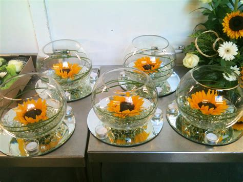 wedding flowers on sunflower bouquets