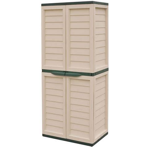 Utility Storage Cabinet Rowlinson Plastic Utility Storage Cabinet With 4 Shelves On Sale