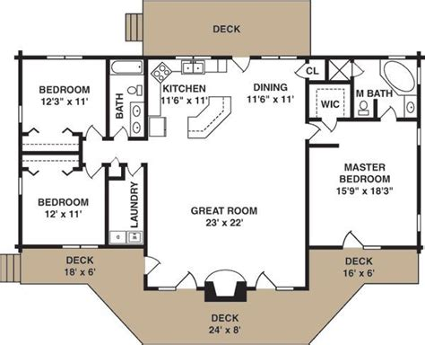 simple log home floor plans best 25 cottage house plans ideas on pinterest
