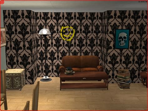 Sherlock Living Room Wallpaper by Mod The Sims Sherlock Living Room Wallpaper