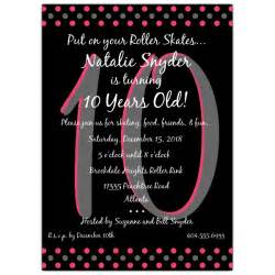 disco dots pink 10th birthday invitations paperstyle