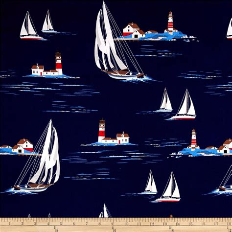 yacht pattern fabric michael miller yacht club windward navy discount