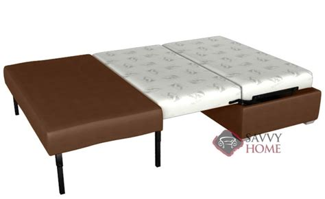 darby leather ottoman sleeper by lazar industries is fully
