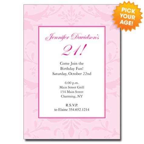 21st Birthday Invitation Card Template by 21st Birthday Invitations21st Birthday Invitations Custom