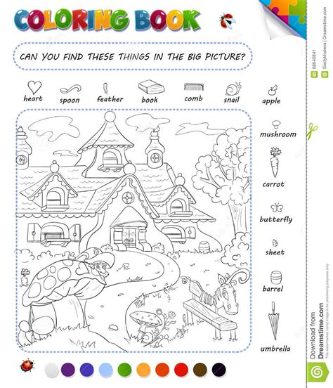 Coloring Book Game For Kids Stock Illustration Image Where Can You Find Coloring Books