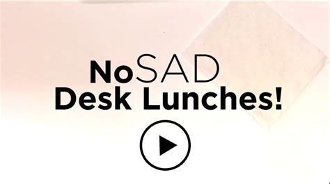 Sad Desk Lunch by Seafood Nutrition Partnership Encourages Americans To