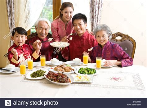new year family meal family new year dinner stock photo royalty