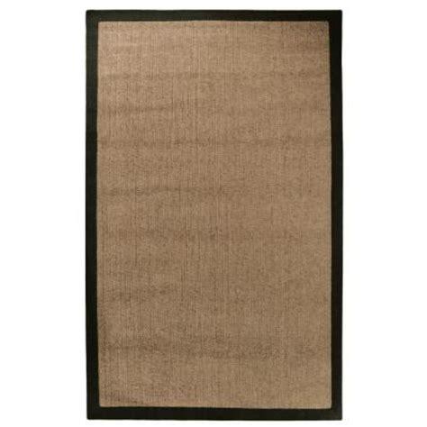 lanart chenille sisal black 8 ft x 10 ft area rug