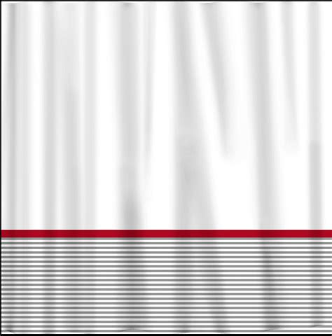 curtains with red accents custom shower curtain grey classy stripe bottom red accents