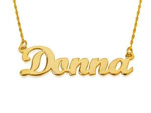 Gold Necklace With Name 14k Gold Name Necklace