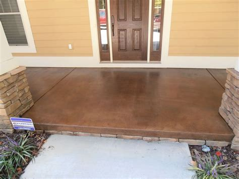stained concrete patio outdoors pinterest