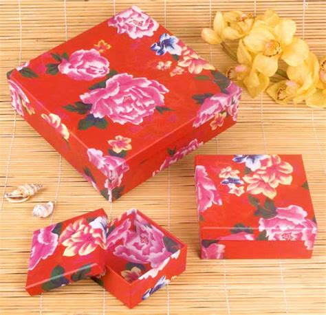 Crafts With Wrapping Paper - peony flower keepsake boxes arts crafts wrapping paper