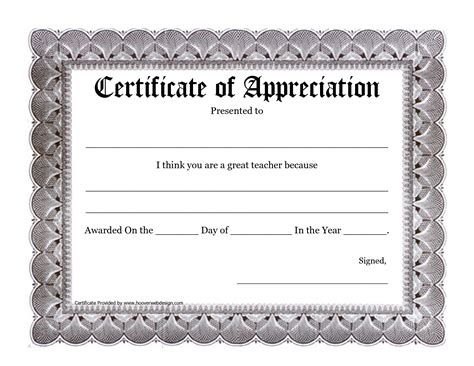 teacher certificate of appreciation template www imgkid
