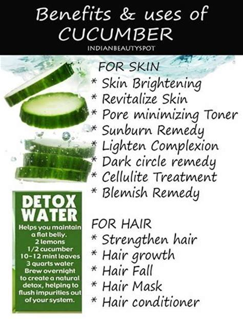 Does Cucumber Detox Water Work by Cucumber And Its Benefits Uses What Do You Use It For