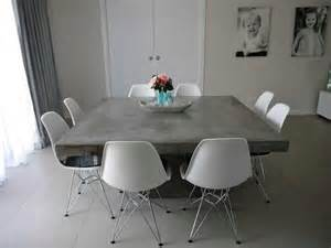 Concrete Dining Room Table by Concrete Table Dining Room Pinterest