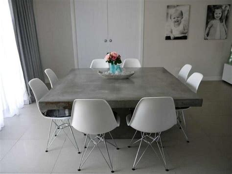 concrete dining room table concrete table dining room pinterest shops table