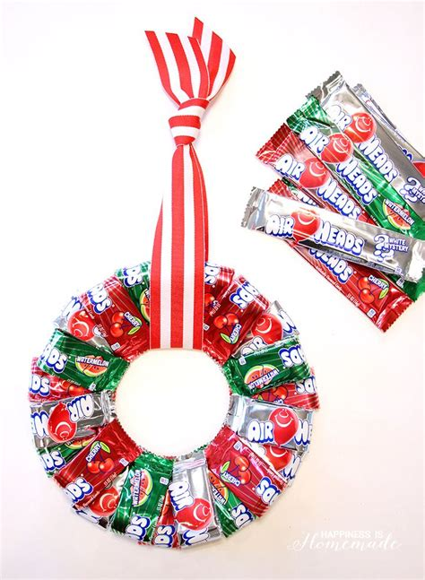 best 25 candy wreath ideas on pinterest
