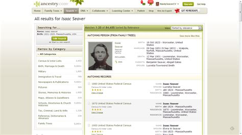 Search Ancestry Genea Musings Ancestry Changes Search Results Page Format