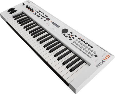 Keyboard Yamaha Synthesizer yamaha mx49 version 2 synthesizer 49 key edition in white
