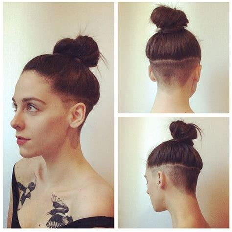 short hair on top and sides poney tail in back 25 best ideas about undercut long hair on pinterest