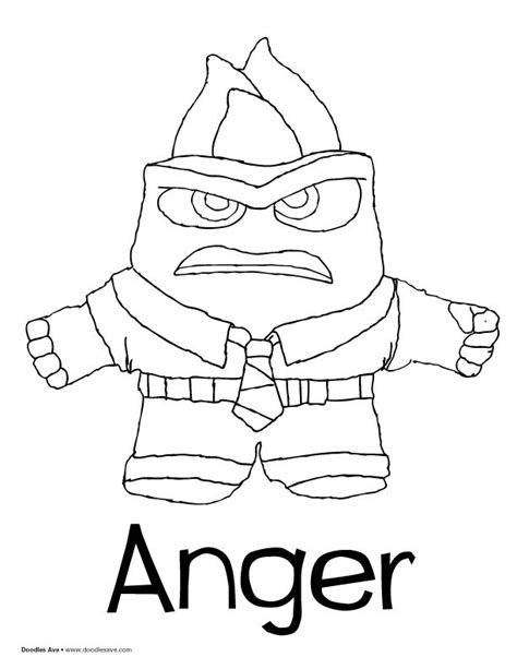 anger angry coloring page free inside out coloring pages 30 best anger inside out images on pinterest disney