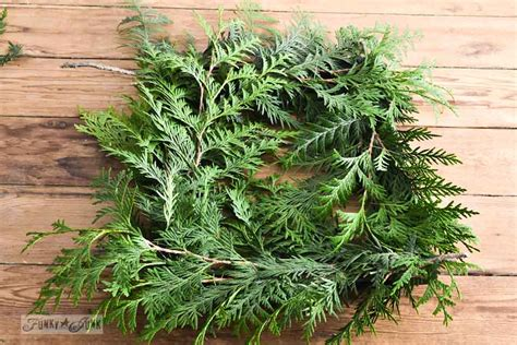 how to make a wreath from branches make a square evergreen wreath on a picture framefunky junk interiors