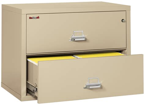 Fireproof Lateral File Cabinets Fireproof Fireking 2 Drawer Lateral 38 Quot Wide File Cabinet Fireproof File Cabinets