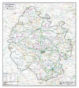 herefordshire county maps isbn 9780956033550 map