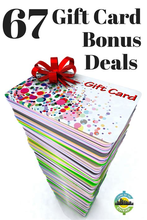 Bonus Gift Cards - 68 gift card bonus offers living on the cheap