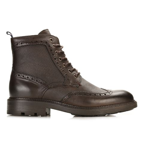 hilfiger mens coffee bean 5a2 brogue boots brown