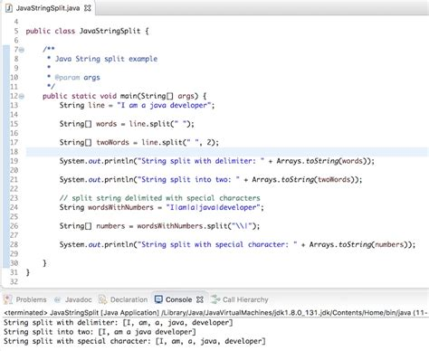 pattern java special characters java string split journaldev