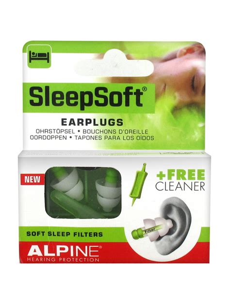 alpine sleepsoft bouchons d oreille 1 embout nettoyant