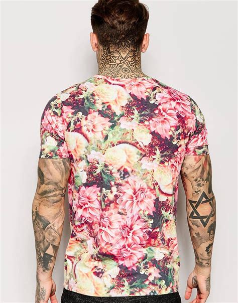T Shirt Floral hype floral t shirt in pink for lyst