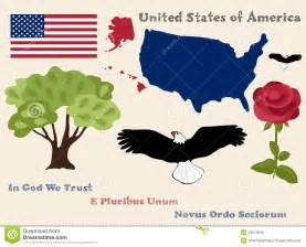 united states map state flowers united states of america symbols royalty free stock photos