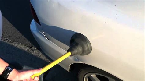 how to a to outside how to pop a dent out on your car