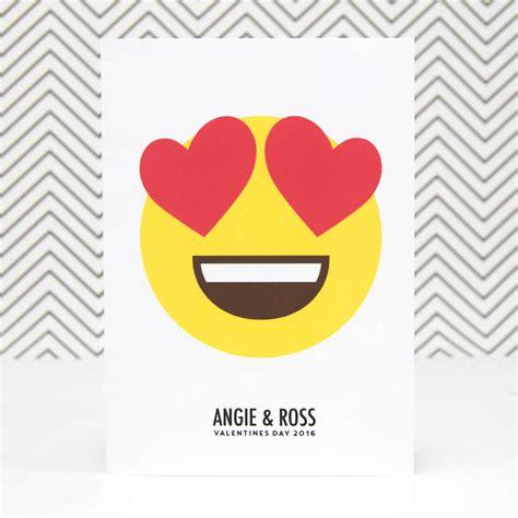 card emoji personalised hearts emoji card by of lemons