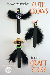 Halloween Arts And Crafts Decorations - how to make craft stick crows