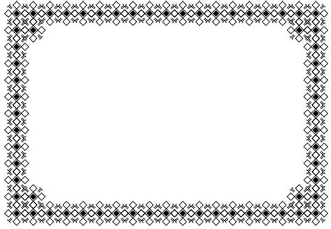 pattern border drawing pretty page borders clipart best
