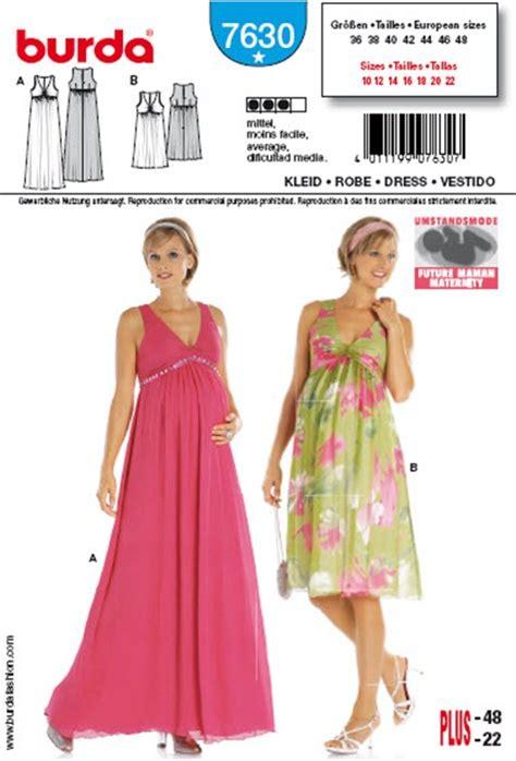 burda 7630 patron de robe femme enceinte - Patron Robe Empire Femme Enceinte