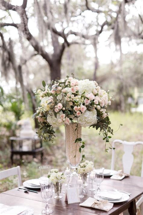 Pink Rustic Elegant Wedding Inspiration   Centerpieces