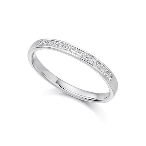 platinum 0 2ct princess cut diamonds vintage wedding ring